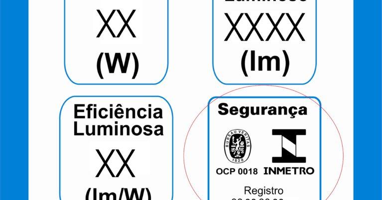 Selo de certificação do INMETRO